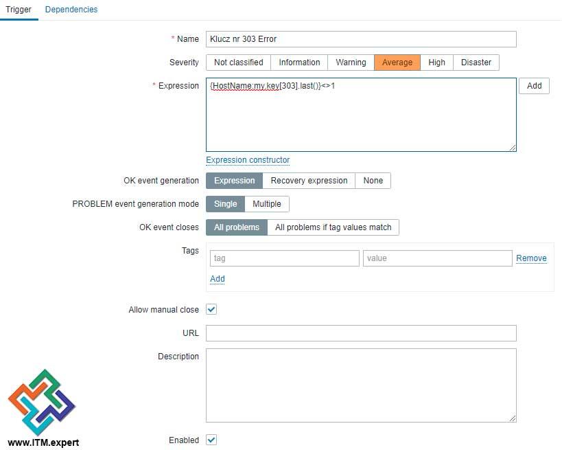Własne definicje monitorowania w Zabbix